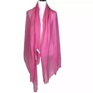 J Crew Pink Linen Blend Wrap Scarf